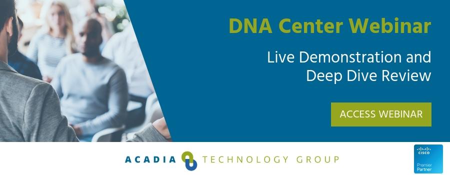 DNA Center Webinar